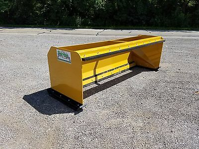 8' snow pusher boxes with pullback bar FREE SHIPPING skid steer bobcat