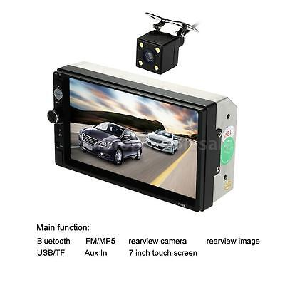 "Universal 7"" 2DIN Car Multimedia Radio MP5 Player Bluetooth HD Rear View Camera"