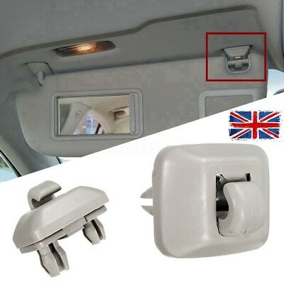 Grey Inner Sun Visor Hook Clip Bracket For Audi A1 A3 A4 A5 Q3 Q5 8E0857562 -UK