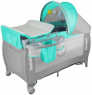 Baby Bed Lionelo Sven Plus Grey Baby changing + Rocking mode + Mosquito + Music