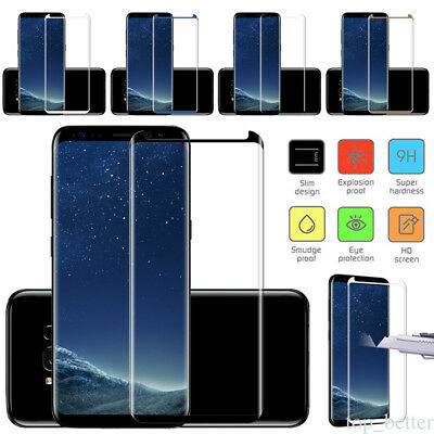 For Samsung Galaxy S7 S8 note 8 Coverage 9H Tempered Glass Film Screen Protector