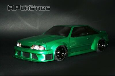 NEW Unpainted APlastics RC Drift body 1:10 Ford Mustang Fox body style