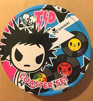 Tokidoki Collectible Cannister Set of 4 Different Coasters