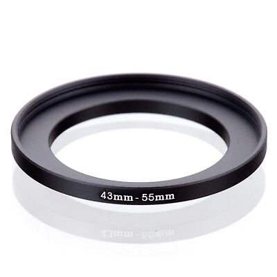 RISE(UK) 43-55mm 43-55 Step-Up Metal Lens Adapter Filter Ring Camera Adapter