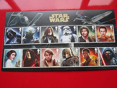 2015 Star Wars 12 Character Stamps Royal Mail Presentation Pack MINT CONDITION