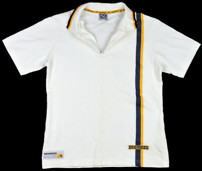 Brumbies Rugby Union 10th Anniversary White 16 Collared Short Sleeve Polo Shirt