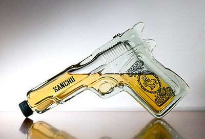 Pistol Gun Shaped Glass Tequila Bottle liquor spirits Gift Joke