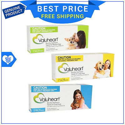 Valuheart Heartworm treatment For Dogs All Sizes 6 Tablets by Value Plus