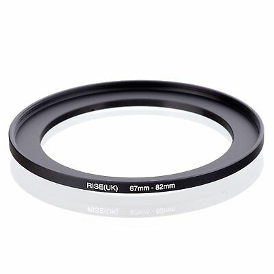 RISE(UK)67mm-82mm 67-82 mm 67 to 82 Metal Step Up Lens Filter Ring Adapter Black