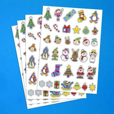Christmas Stickers Colourful Paper 170 Stickers for Festive Crafts!