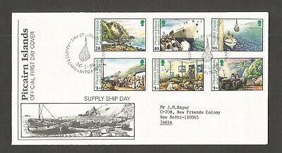 Pitcairn Islands 1996 Supply Ship Day Fdc Sg,487-492 Lot 4967A