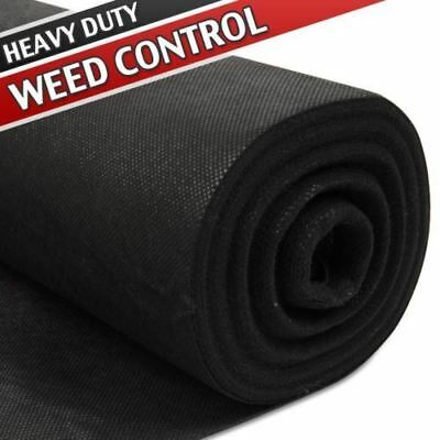 New 2 x 25m Weed Control Fabric Heavy Duty Ground Garden Landscape Protector