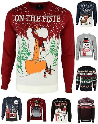 Men's Christmas Jumper By Threadbare Novelty Funny Rude Knitted Xmas Sweater New