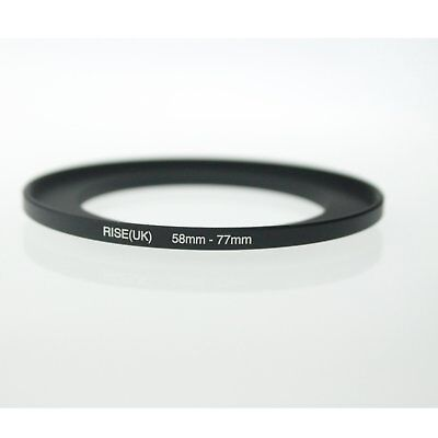 RISE(UK) 58mm-77mm 58-77 mm 58 to 77 Step Up Ring Filter Adapter black