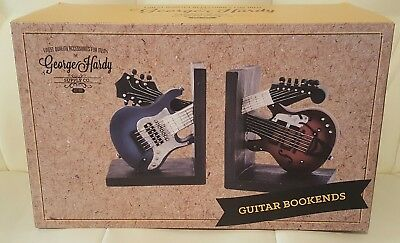 George Hardy Supply Co Guitar Bookends music New in Box