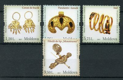 Moldova 2017 MNH National History Museum Jewellery 4v Set Museums Stamps
