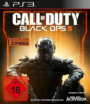 PS3 / Sony Playstation 3 Spiel - Call of Duty Black Ops III (3)(mit OVP)(USK18)
