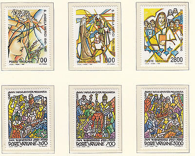 VATICAN CITY 1990 St Angela/Missionary Sets MINT UNHINGED