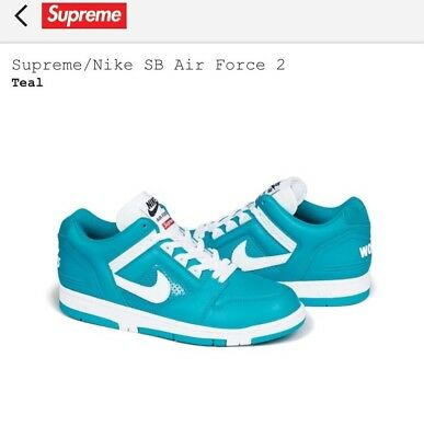 610ebb82f422 SUPREME   NIKE SB Air Force 2 Teal Size 10.5 -  190.00