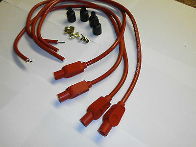 Suzuki Gsx1100 Efe   Taylor Red Ignition Leads & Colour Moulded Plug Caps.