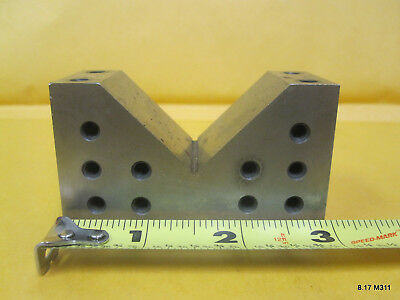 "1-1/4"" x 1-3/4"" x 3"" Steel Machinist Drill Lathe Tool V-Block VBlock"