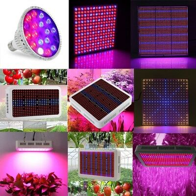 10W-300W LED Grow Light Hydro Full Spectrum Veg Flower Indoor Plant Lamp Panel