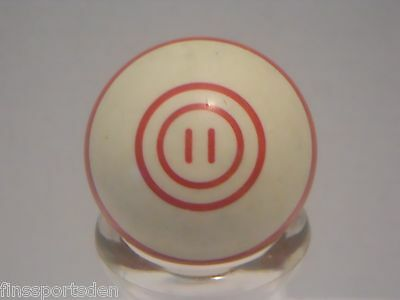 Old Vintage #11 Red Stripe POOL BALL ~ Favorite Lucky Number Display Shift Knob