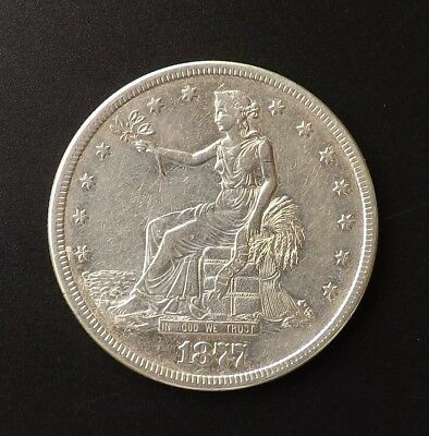 1877-S $1 Trade Dollar XF Details - Cleaned