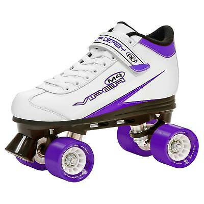 Roller Derby® Women's Viper M4 Speed Quad Skate - White/Purple