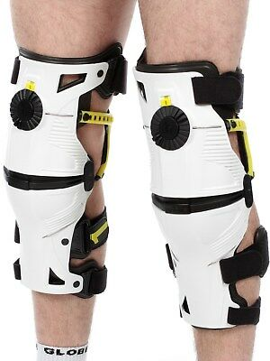 Mobius White-Acid-Yellow 2015 X8 Pair of MX Knee Brace