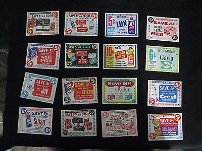 Vintage Grocery Store Coupon Lot 16