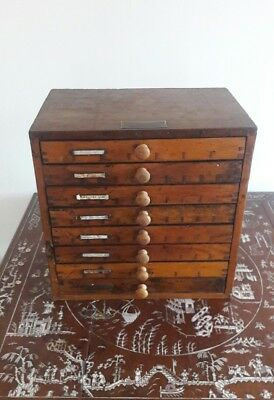 ADANA - 1930s - 8 Drawer  Printers  Cabinet with Separate compartments.