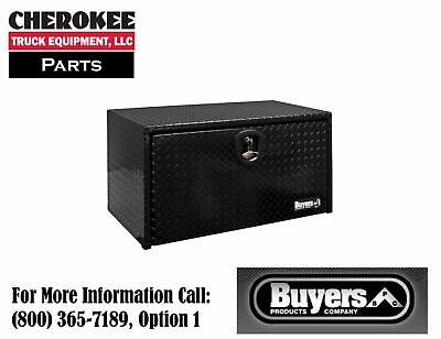 "Buyers Products 1725101, Black PC Aluminum Toolbox, 18"" H x 18"" D x 18"" W"