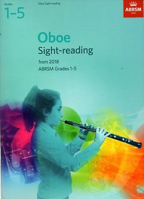 Oboe Sight-Reading Tests from 2018 ABRSM Grades 1-5 Sheet Music 9781848499812