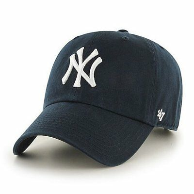 B-RGW17GWS-HM, Gorra 47 Brand – Mlb New York Yankees Clean Up azul, Niños, 2017,