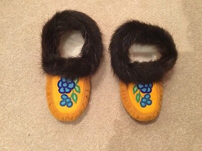 Handmade Canadian Native Beaded Moccasins