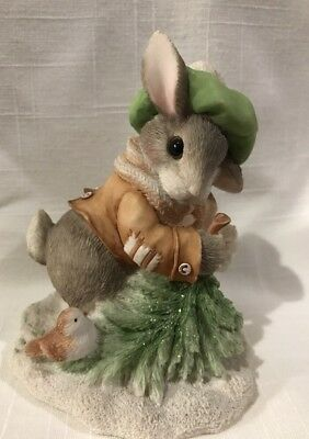"MY BLUSHING BUNNIES 178616 ENESCO 1996 ""Wintertime Blessings"" Figurine"