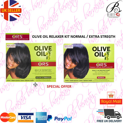 Organic Root Stimulator ORS Olive Oil Relaxer Normal / Extra Strength Kit/Perm