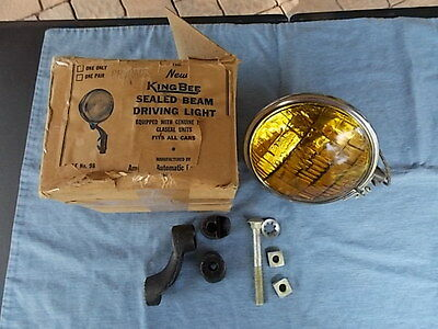 1930-40s KING BEE MODEL 98-99 FOG/DRIVING LIGHT NOS IN BOX WITH BRACKET HDWR.