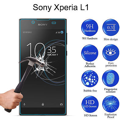 Premium Tempered Glass Screen Protector Protective Cover For Sony Xperia L1