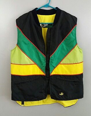 Vintage John Deere Vest Ladies size Large quilt lined full zip snowmobile winter