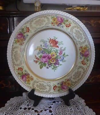 Vintage Johnson Bros Porcelain Old English Large Display Plate Floral Design