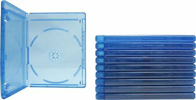 (10) Empty Blu-ray Cases 1-Disc with Tray & Logo Replacement Case NEW!