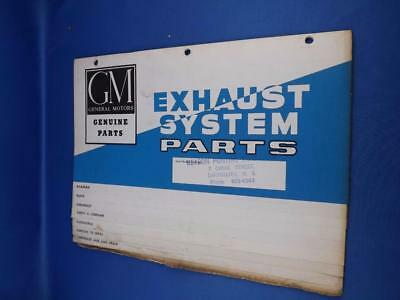 General Motors Part Exhaust System Parts List Trade Price Guide Catalog