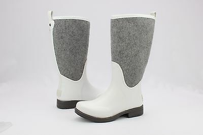 Ugg Reignfall Wool Synthetic White Tall Rain Boots Size 9 US
