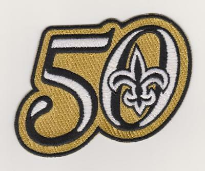reputable site af7e2 feb71 NEW ORLEANS SAINTS 50Th Anniversary Season Jersey Patch