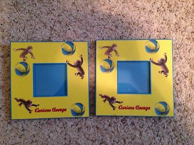 """Curious George 6"""" Picture Frames 1997"""