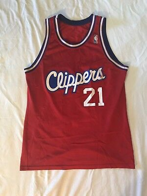 3fae8b311 VINTAGE CHAMPION DOMINIQUE Wilkins Los Angeles Clippers Jersey Size ...