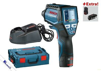 Bosch Thermo detector GIS 1000 C L-BOXX + 2. Battery 2,0 Ah + USB-Adapter