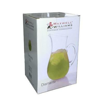 Maxwell & Williams Diamante Classic Jug 2.25L Gift Boxed Glass Water Juice NEW